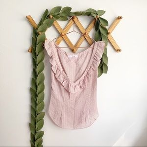 Chloe Ruffled Pink Blouse